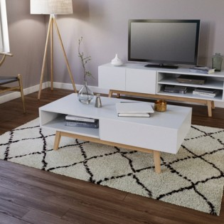 Table basse HOME 1 tiroir / Blanc