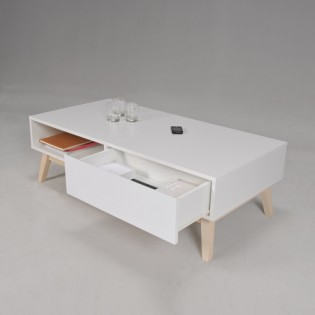 Table basse HOME 1 tiroir / Blanc