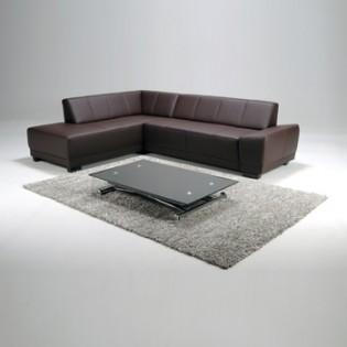 Canapé d'angle MEMPHIS Gauche / Chocolat