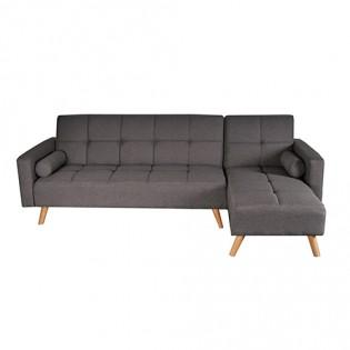 Canapé d'angle convertible droit ASGARD / GRIS
