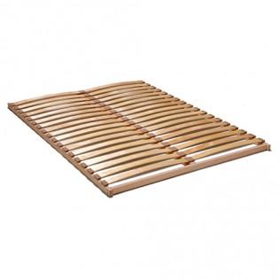 Sommier NEVADA 140x190 cadre bois 2x18 lattes multiplis / Naturel