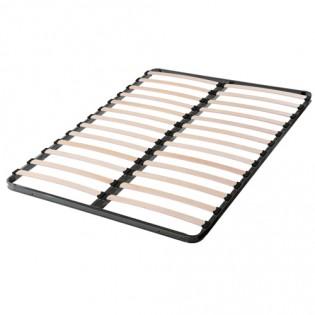 Sommier 140x190 cadre métal 2x13 lattes multiplis