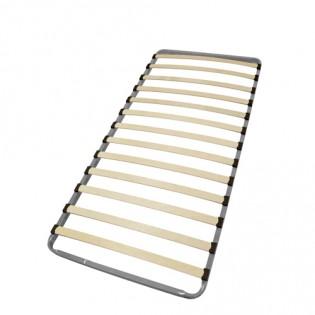 Sommier 90x190 cadre métal 13 lattes multiplis