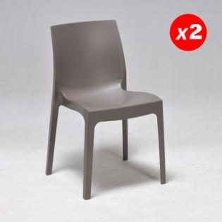Lot de 2 chaises IN-OUT / Brun