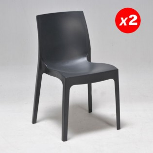Lot de 2 chaises IN-OUT / Anthracite