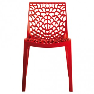 Chaise GRUVYER empilable / Rouge