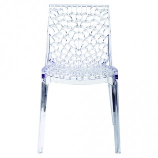 Chaise GRUVYER empilable / Transparent
