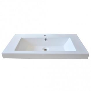 Plan de toilette GLAM 2 80cm / Blanc