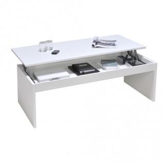 Table basse DARWIN 100x50cm / Blanc