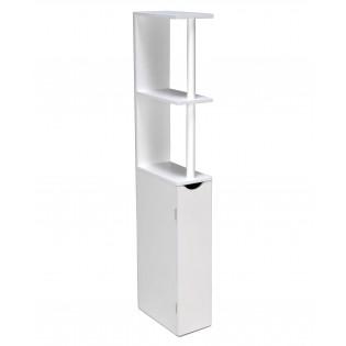 Meuble de toilettes SIBERIA 1 porte - 2 niches / Blanc
