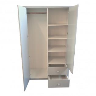 Armoire VICTOIRE 2 portes + 2 tiroirs / Ivoire