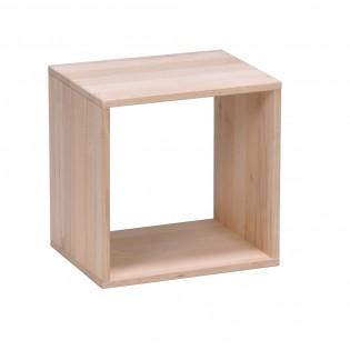 Cube de rangement en hêtre massif NOA / Naturel