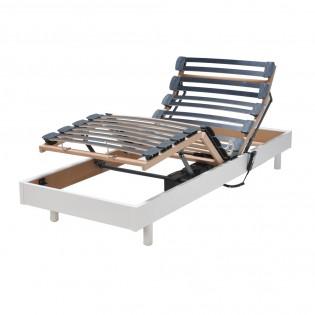Sommier relaxation électrique FLEXPUR 80x200 / Blanc