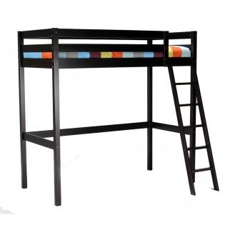 Lit mezzanine STUDIO 90x190 + 1 sommier / Noir