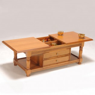 Table basse - bar / Chêne