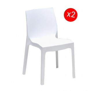 Lot de 2 chaises IN-OUT / Blanc