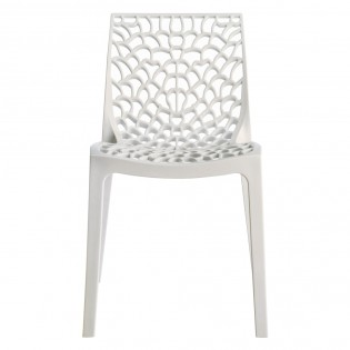 Chaise GRUVYER empilable / Blanc