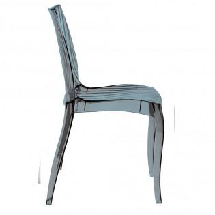Lot de 2 chaises DUNE empilables / Gris Transparent