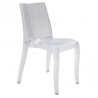 Chaise DUNE empilable / Transparent