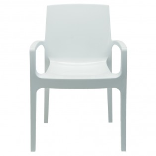 Fauteuil CREAM empilable / Blanc