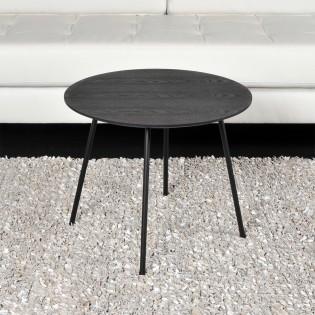 Table basse LYRA diamètre 55cm / Chêne Noir