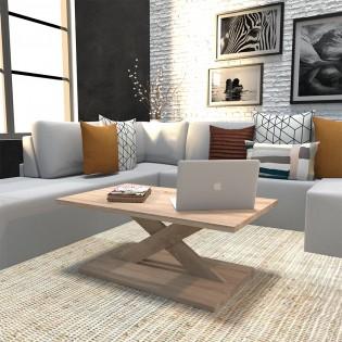 Table basse ROMA 100x60 cm / Chêne blanchi
