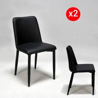 Lot de 2 chaises ANA / Noir