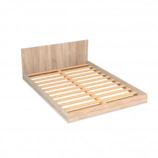 Lit LOFT 140x190 + 1 sommier + tête de lit / Chêne blanchi