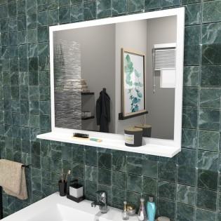 Miroir 80x65cm + tablette / BLANC
