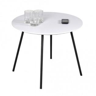 Table basse LYRA diamètre 55cm / Chêne Blanc