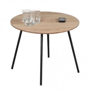 Table basse LYRA diamètre 55cm / Chêne
