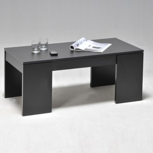 Table basse NEWTON 100x50cm / Noir