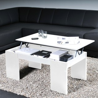 Table basse NEWTON 100x50cm / Blanc