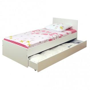 Lit OSLO 90x200 + 1 tiroir / Blanc