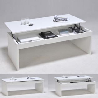 Table basse DARWIN 120x60cm / Blanc