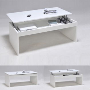 Table basse DARWIN 100x50cm / Blanc